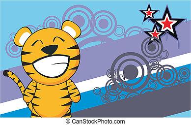 tiger cartoon background2