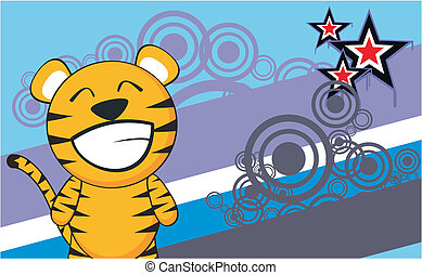 tiger cartoon background2