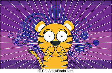 tiger cartoon background3