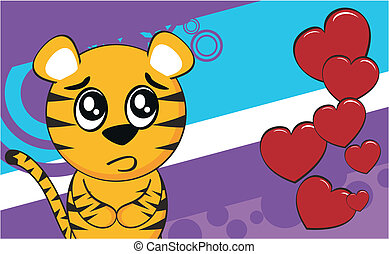 tiger cartoon background4