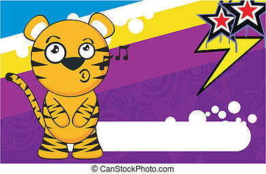 tiger cartoon background5