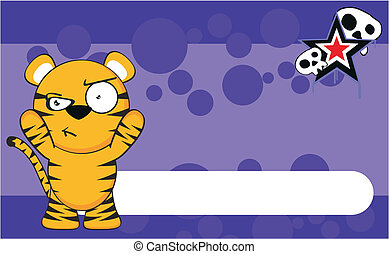 tiger cartoon background6