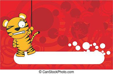 tiger cartoon background7