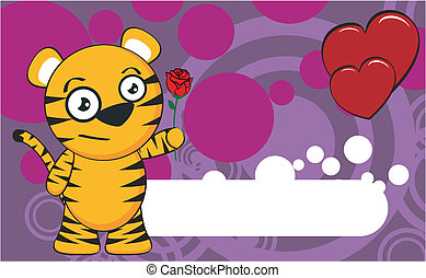 tiger cartoon background8