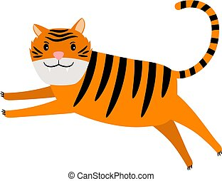 Tiger cartoon icon