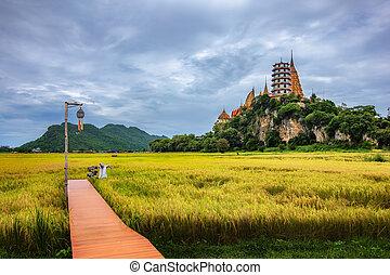 "Tiger Cave Temple ""Wat Tham Sua"" in Kanchanaburi, thailand."