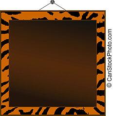 tiger, cornice, stampa