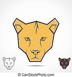 tiger, criativo, rosto