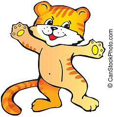 tiger, cub.