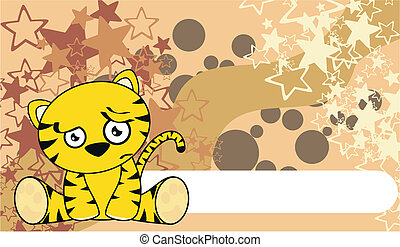 tiger cute cartoon baby wallpaper