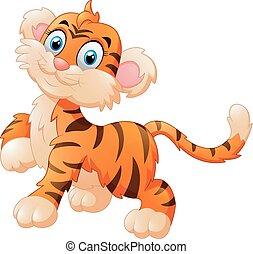 tiger, cute, cartoon