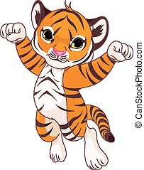 tiger, cute