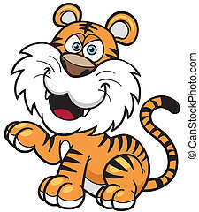 Tiger - Vector illustration of Tiger cartoon