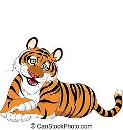 Tiger - Beautiful lying tiger