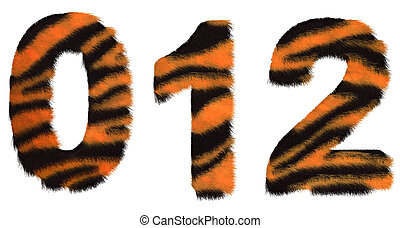 Tiger fell 0 1 and 2 figures isolated
