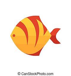 tiger, fish, żółty