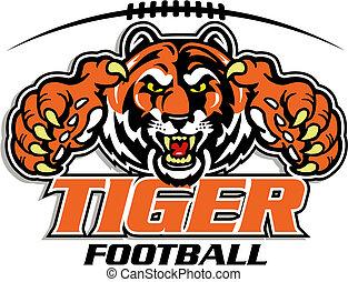 tiger, fodbold, konstruktion