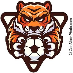 tiger, football calcio, mascotte