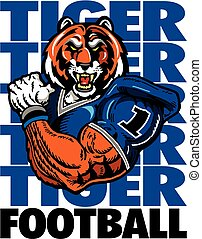 tiger football player - muscular football player design