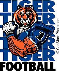 tiger football player - muscular football player design