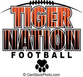tiger football - tiger nation football team design with paw ...
