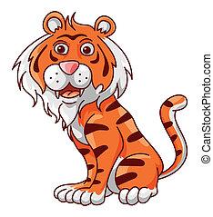 Tiger Funny Cartoon