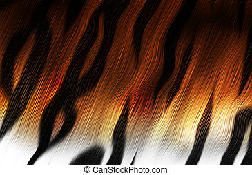 tiger fur closeup as a background