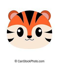 Tiger head cartoon