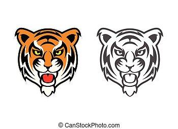 Tiger Head Clipart Mascot Logo