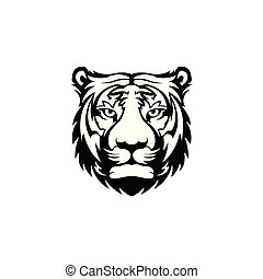 tiger head face logo