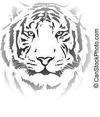 tiger head in black interpretation4
