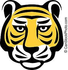 Tiger head logo concept,