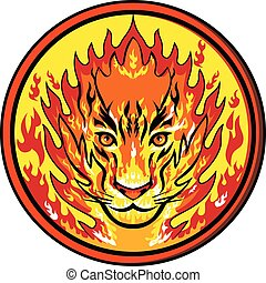 tiger-head-on-fire-circ