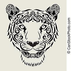 Tiger head ornament