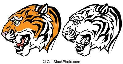 tiger head profile