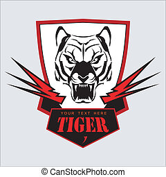 Tiger Head, Shield and Light. - Symbolizing power, courage, ...