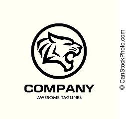 Tiger head vector logo concept