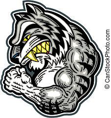 tiger, hvid, bengalen, mascot