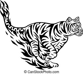 Tribal tiger design clip art vector - Search Drawings and ...