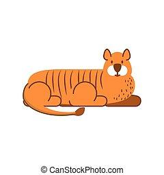 tiger jungle animal in cartoon abstract design