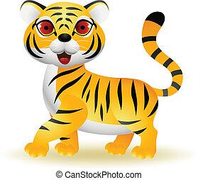 tiger, karikatur, lustiges
