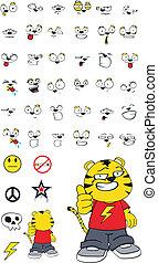 tiger kid cartoon set1