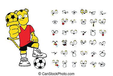 tiger kid soccer cartoon set10