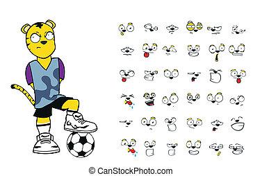 tiger kid soccer cartoon set11