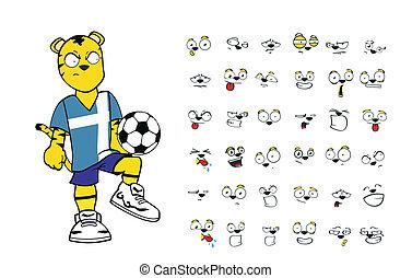 tiger kid soccer cartoon set3