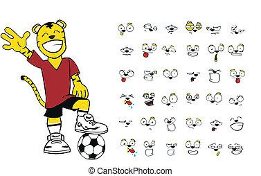 tiger kid soccer cartoon set6