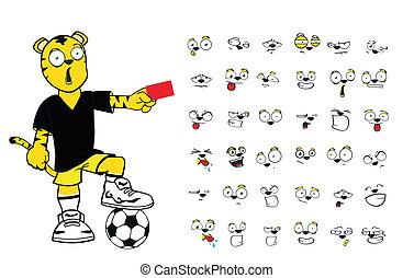 tiger kid soccer cartoon set9