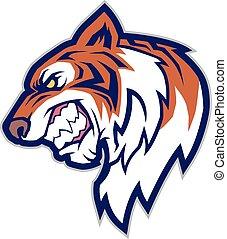 tiger- kopf, maskottchen