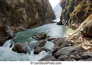 Tiger Leaping Gorge (hutiaoxia) near Lijiang, Yunnan...