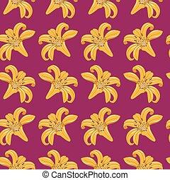 Tiger Lilies Seamless Texture